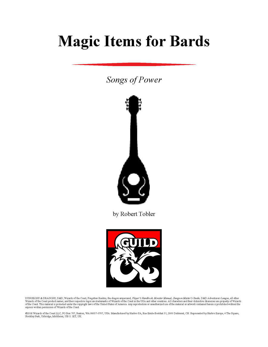 Magic Items for Bards - Dungeon Masters Guild | RPGNow com
