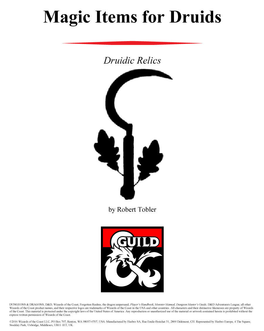 Magic Items for Druids - Dungeon Masters Guild | Dungeon Masters Guild