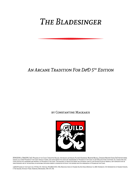 Bladesinger Revised