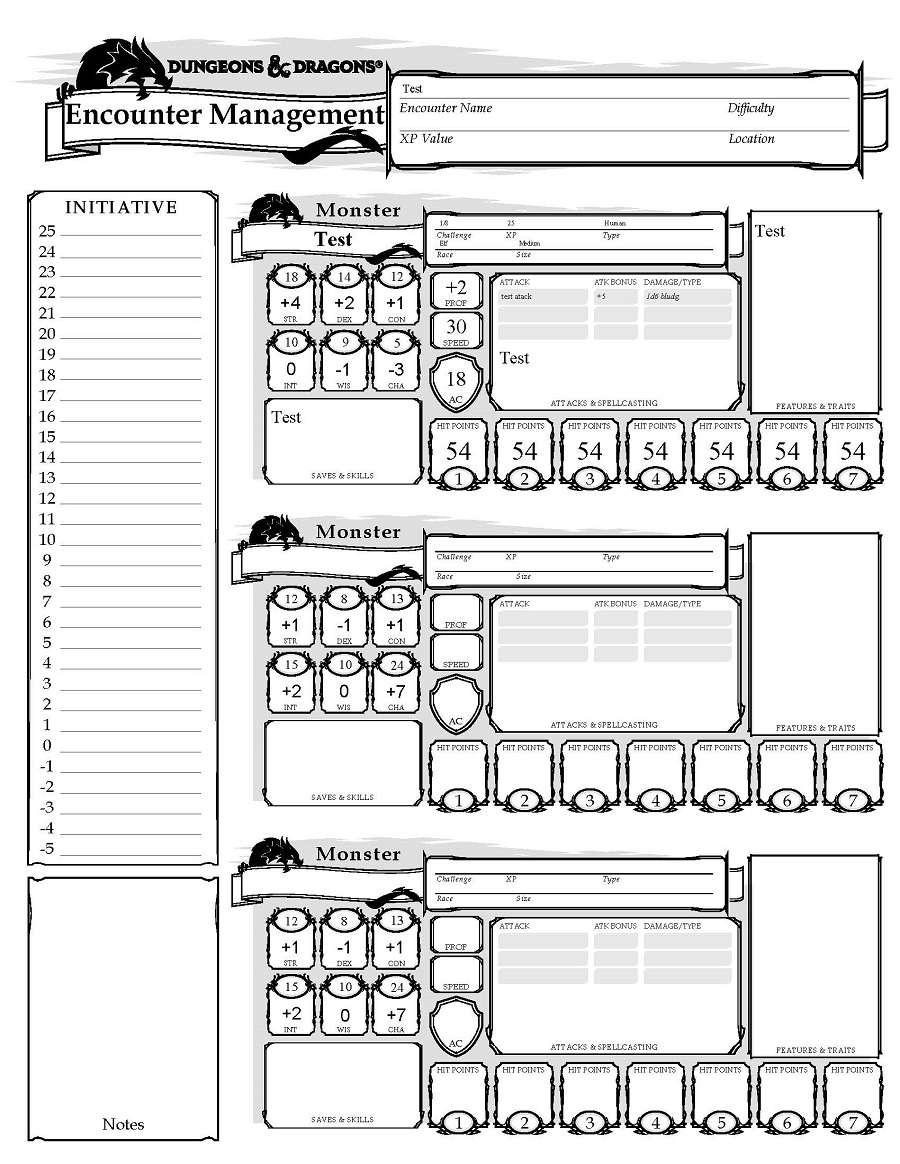 picture relating to Initiative Tracker 5e Printable known as 5e Expertise Manage - Dungeon Masters Guild Dungeon