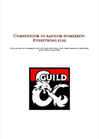 Compendium of random homebrew: Everything else