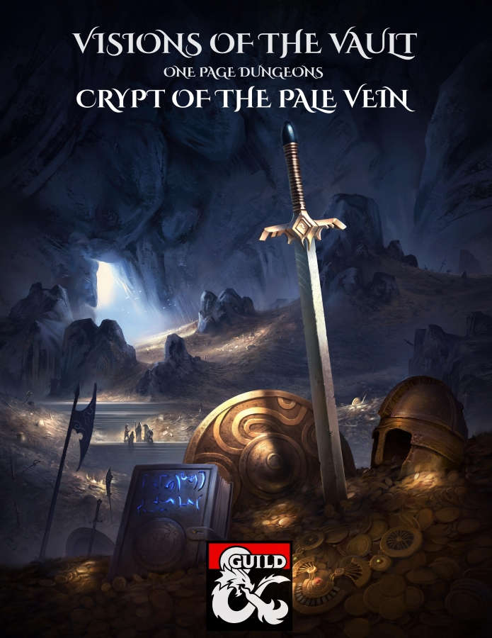 Cover of Visions of the Vault: One Page Dungeons: Crypt of the Pale Vein