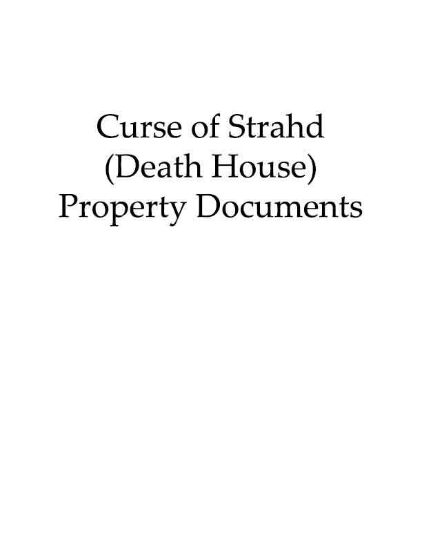 CoS (Death House) property documents