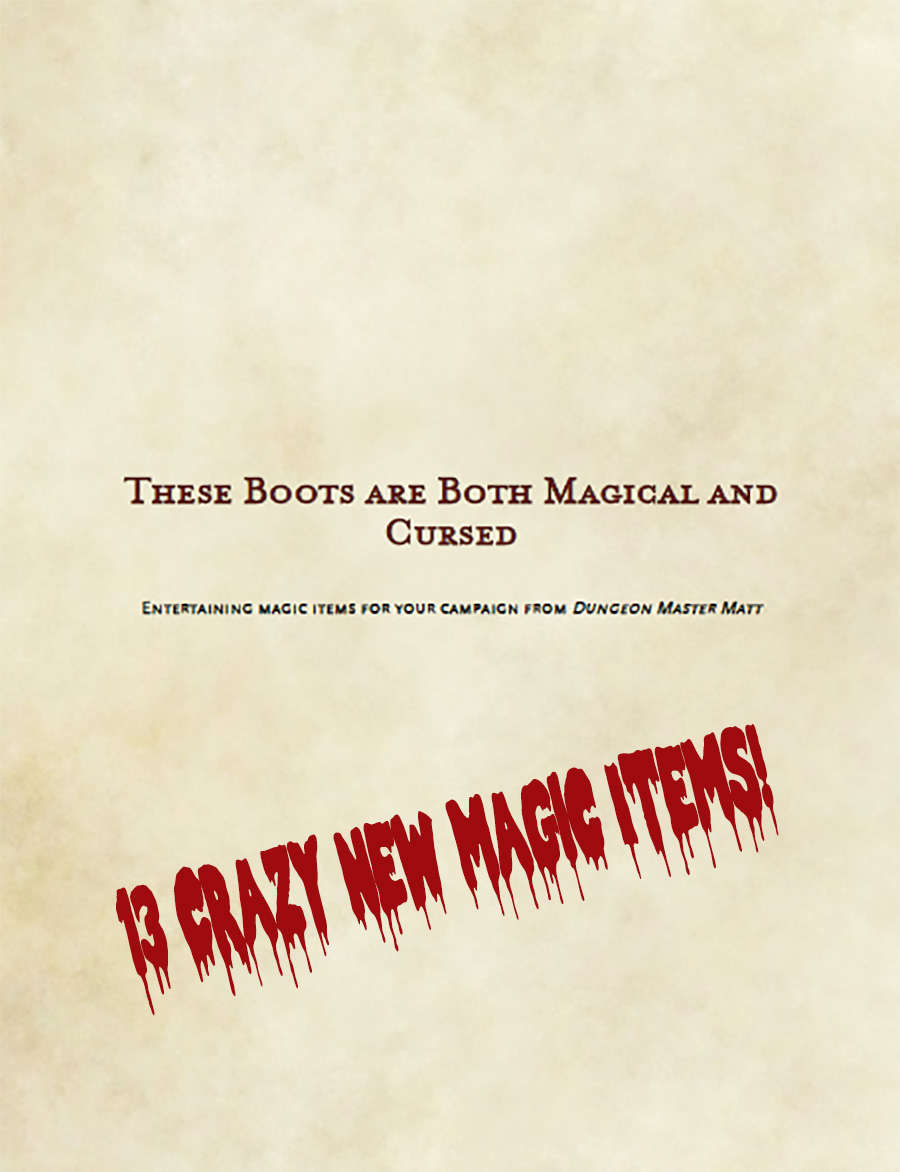 Boots that are Both Magical and Cursed - Dungeon Masters Guild | Dungeon  Masters Guild