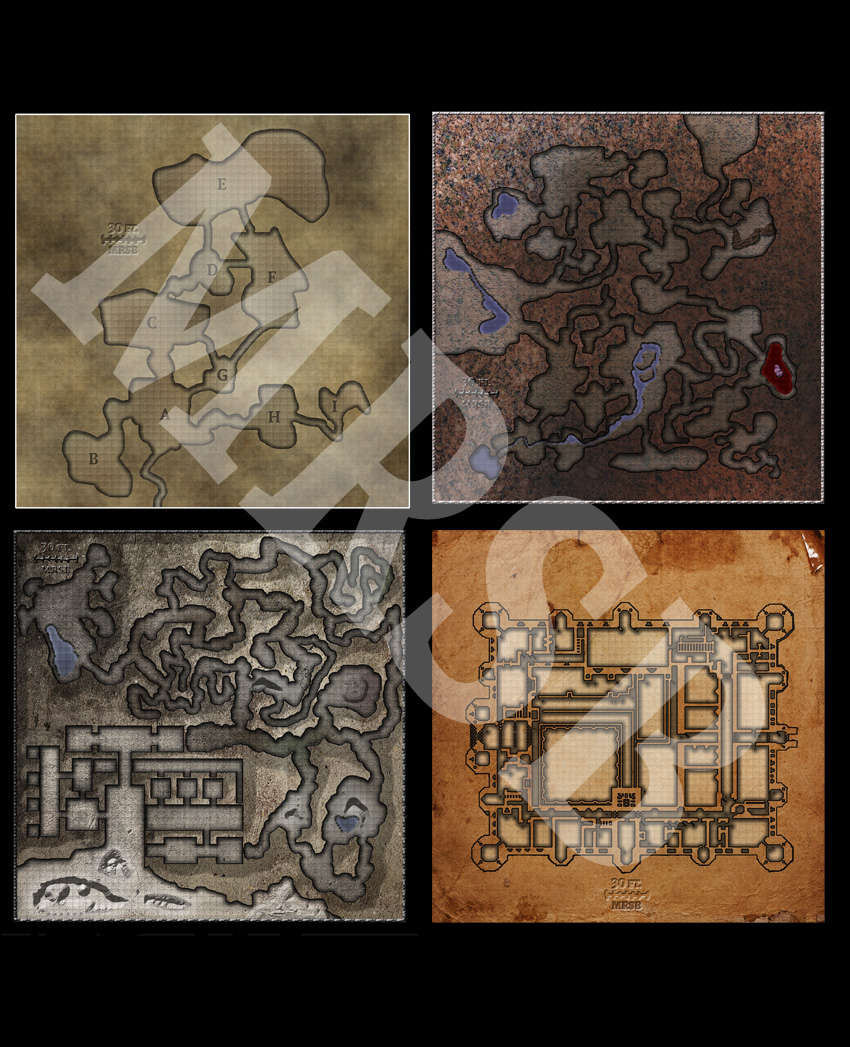 DMs Guild Creator Resource - Free Dungeon Maps / Map Pack 1 ... on
