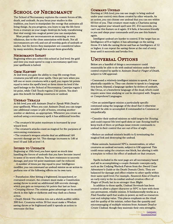 An Updated View On Necromancy - Dungeon Masters Guild | Dungeon Masters  Guild