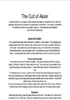 The Cult of Alunir