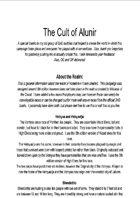 The Cult of Alunir