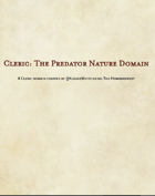 5E D&D Class - Cleric,  The Predator Domain