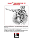 Early Firearms for D&D 5e