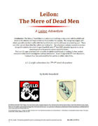 Leilon: Mere of Dead Men's Tower of Silence