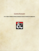 Class Option-Glyph Knight