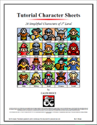 Tutorial Character Sheets