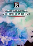 Mixed-Element and Alternative Genie Genasi