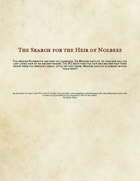 The Search For The Heir of Nolbeez