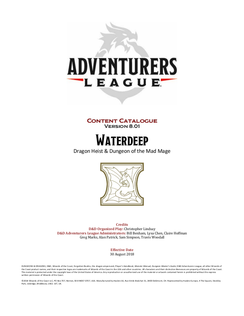 D Amp D Adventurers League Player Amp Dm Pack Dungeon Masters