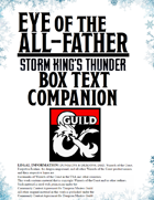 Eye of the All-Father - Box Text Companion - Storm King's Thunder
