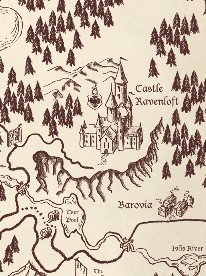 barovia hand drawn maps dungeon masters guild dungeon masters guild