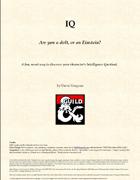 IQ for the Adventurer