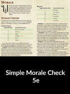 Simple Morale for 5e