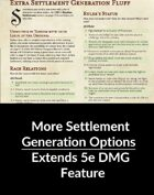 Extra Settlement Generation Tables