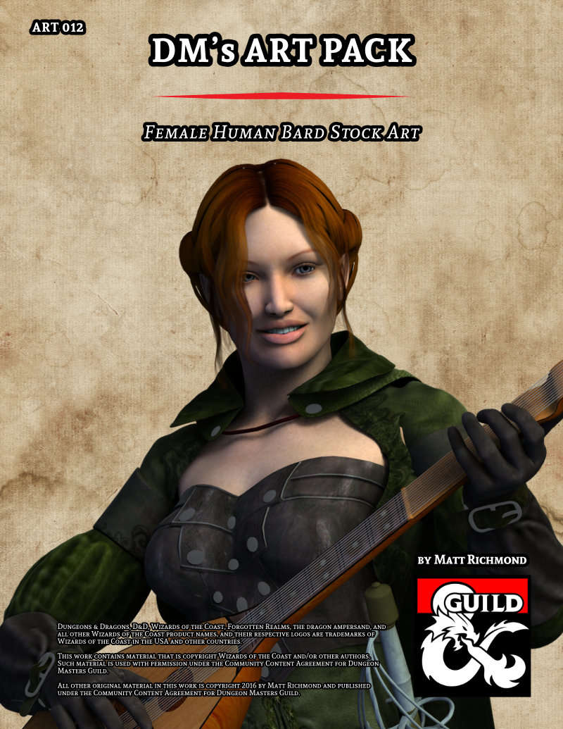 Art012 Female Human Bard Dungeon Masters Guild Dungeon Masters Guild