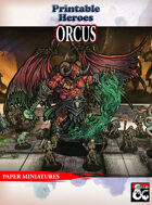 Orcus Paper Miniature