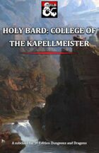 Holy Bard: College of the Kapellmeister