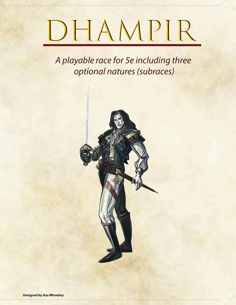 Dhampir - 5e race w/ 3 subraces - Dungeon Masters Guild