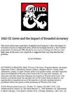 D&D 5E Saves and the Impact of Bounded Accuracy