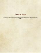 Dragon Rider Prestige Class