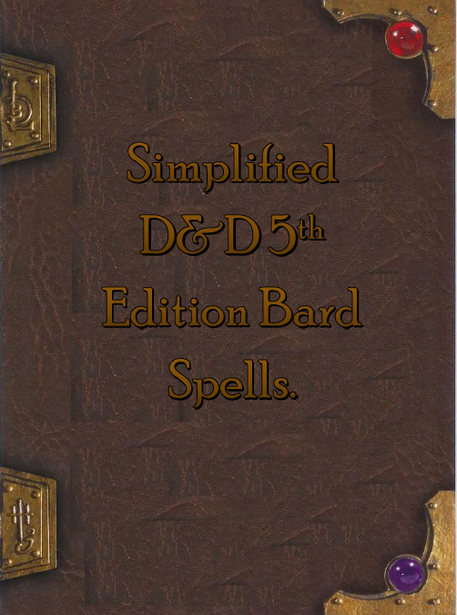 Simplified 5e Bard Spellbook - Dungeon Masters Guild | Dungeon