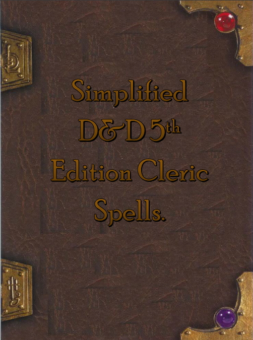 Simplified 5e Cleric Spellbook - Dungeon Masters Guild
