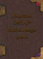Simplified 5e Ranger Spellbook