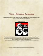 Taint : Outbreak of Aranar
