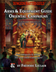 Oriental Campaign Arms & Equipment Guide 5e