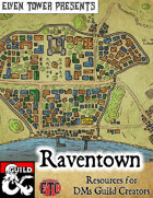 Raventown - Fantasy Stock Maps