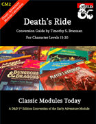 Classic Modules Today: CM2 Death's Ride (5e)
