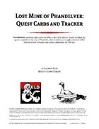 Phandalin Quest Cards and Tracker