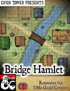 Bridge Hamlet - Fantasy Stock Maps