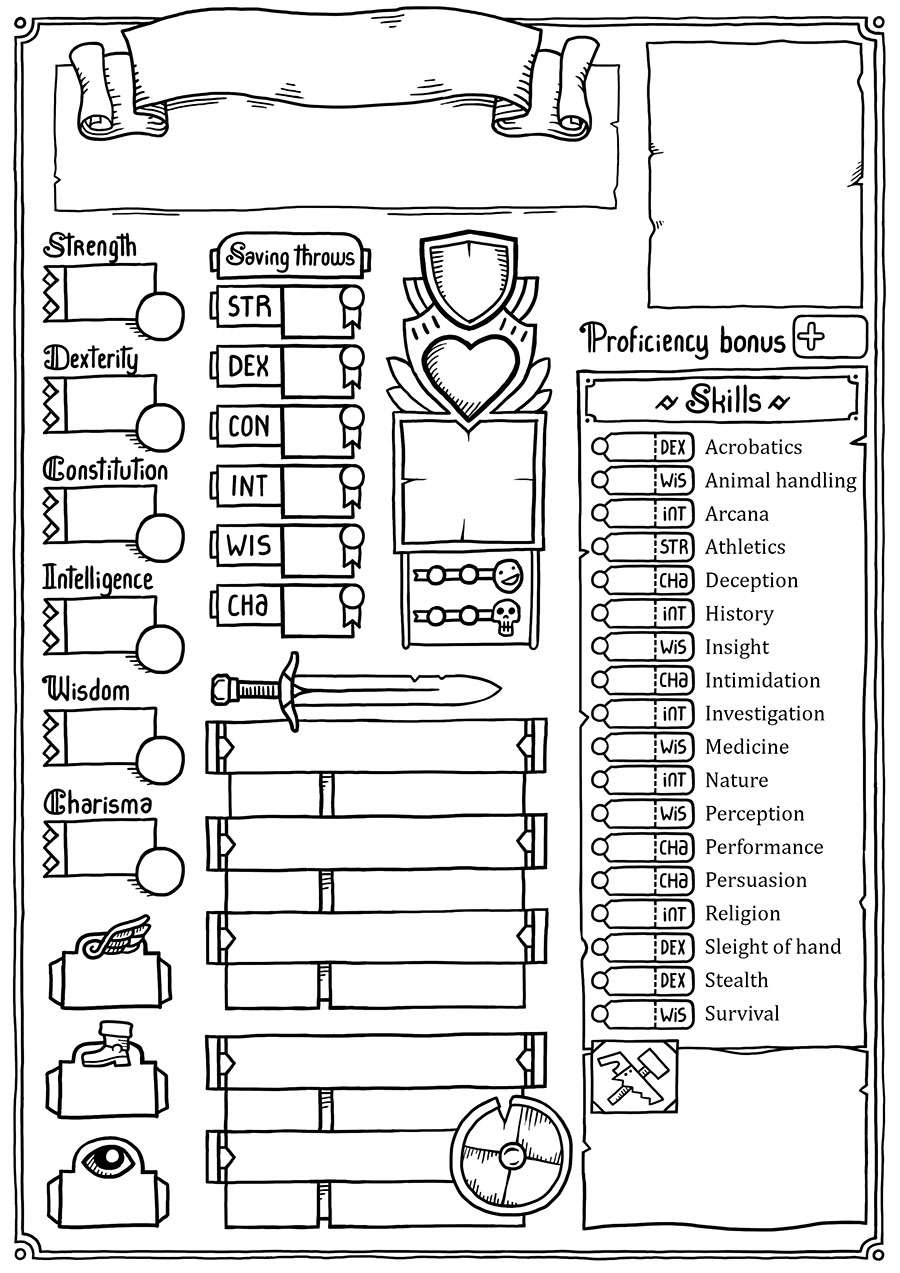 Custom Character Sheet Design : Jo s custom character sheet dungeon masters guild