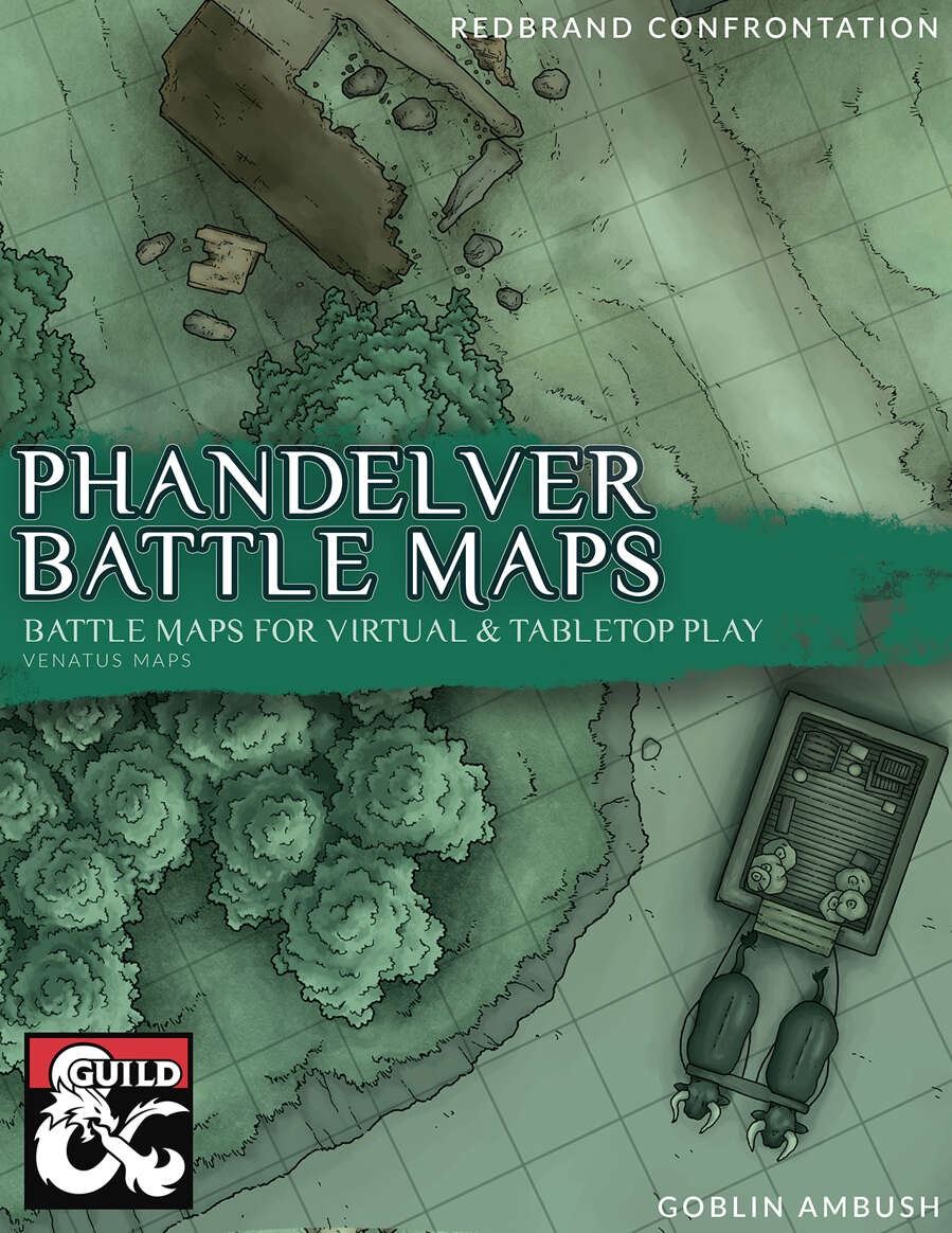 graphic relating to Redbrand Hideout Map Printable known as Dropped Mine of Phandelver Fight Maps - Dungeon Masters Guild