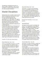Mystic Master Disciplines