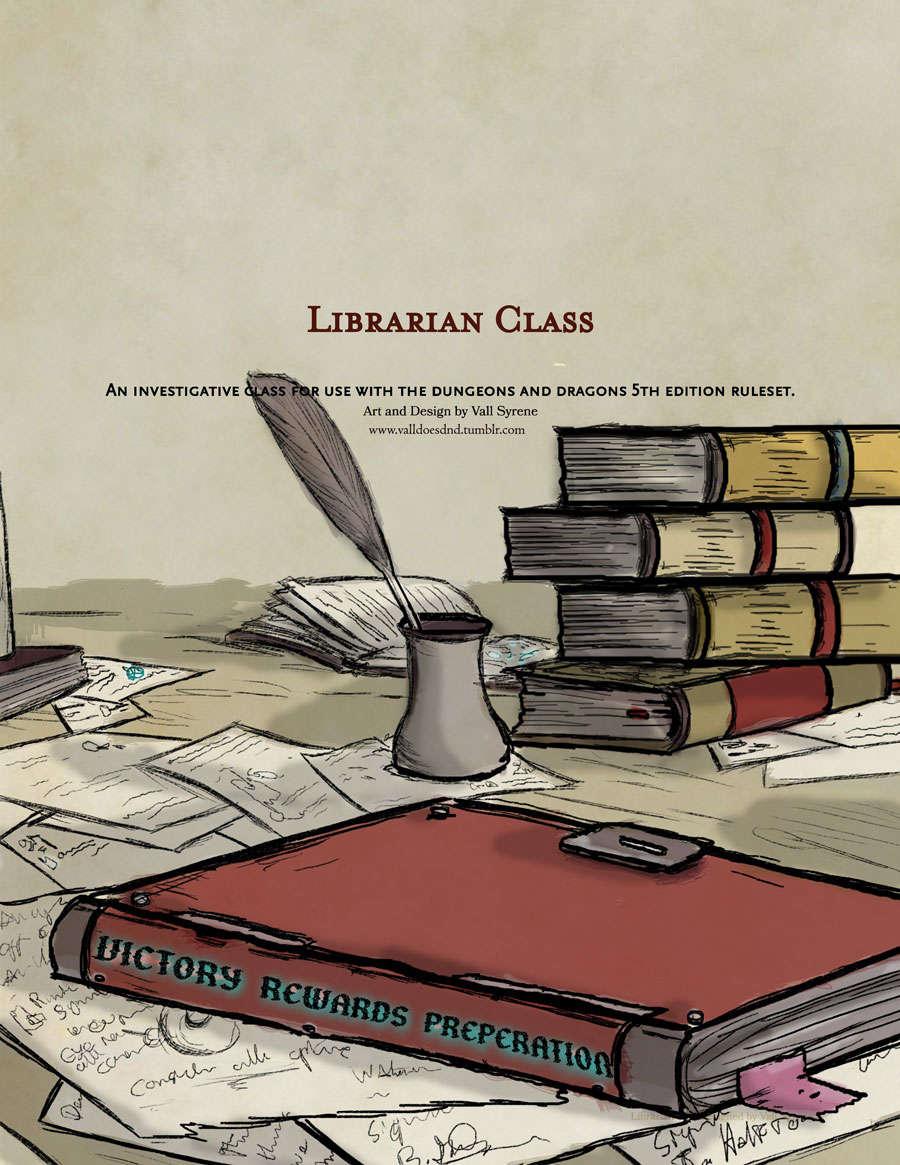 The Librarian: An Investigative Class for D&D 5e - Dungeon