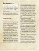 Artificer: Golemcrafter (5e UA)