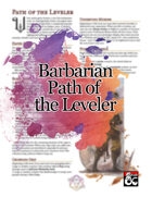 Barbarian Path of the Leveler