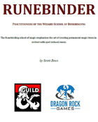 Runebinder Arcane Tradition from the Wizard School of Runebinding