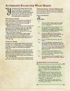 Wild Magic Alternate Rules