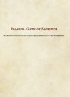 5E D&D Class - Paladin, Oath of Sacrifice V2.0