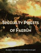 Specialty Priests of Faerûn